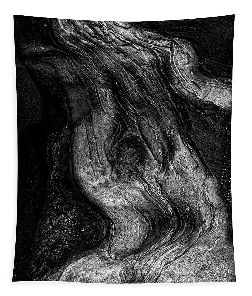 Abstract Tapestry featuring the photograph Sleeping Rocks by Bob Orsillo