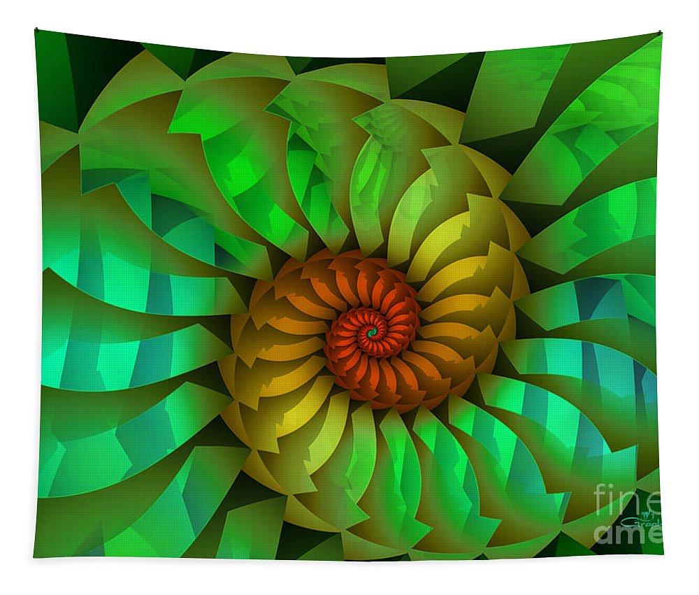 Fractal Tapestry featuring the digital art Sleeping Spring by Jutta Maria Pusl