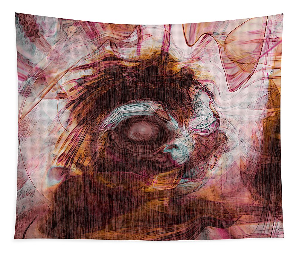 Abstract Art Tapestry featuring the digital art Sleepless by Linda Sannuti
