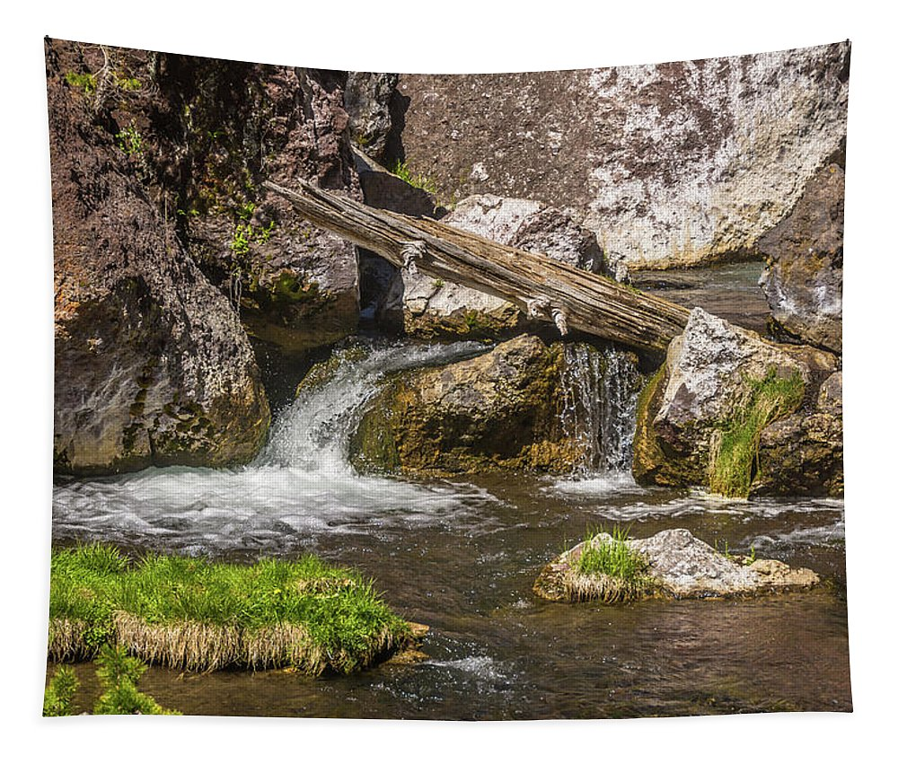 American Tapestry featuring the photograph Small Falls Below Big Falls by Marv Vandehey