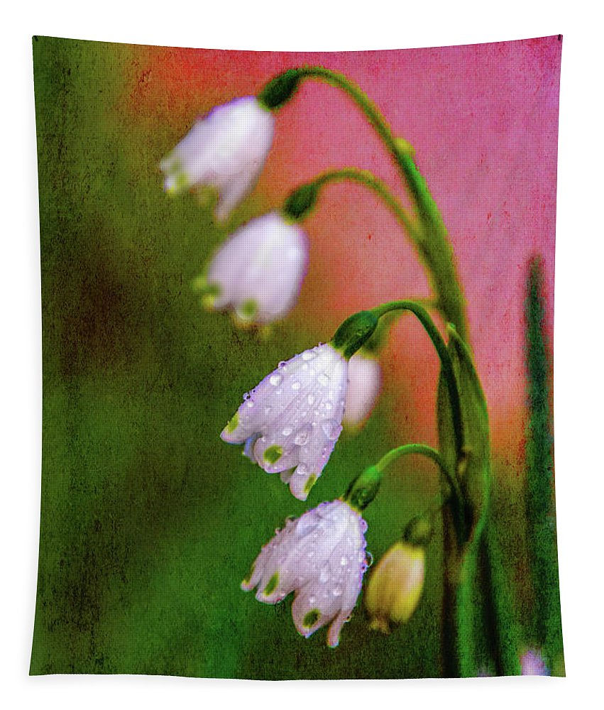 Flowers Tapestry featuring the digital art Small Signs Of Spring by Terry Davis