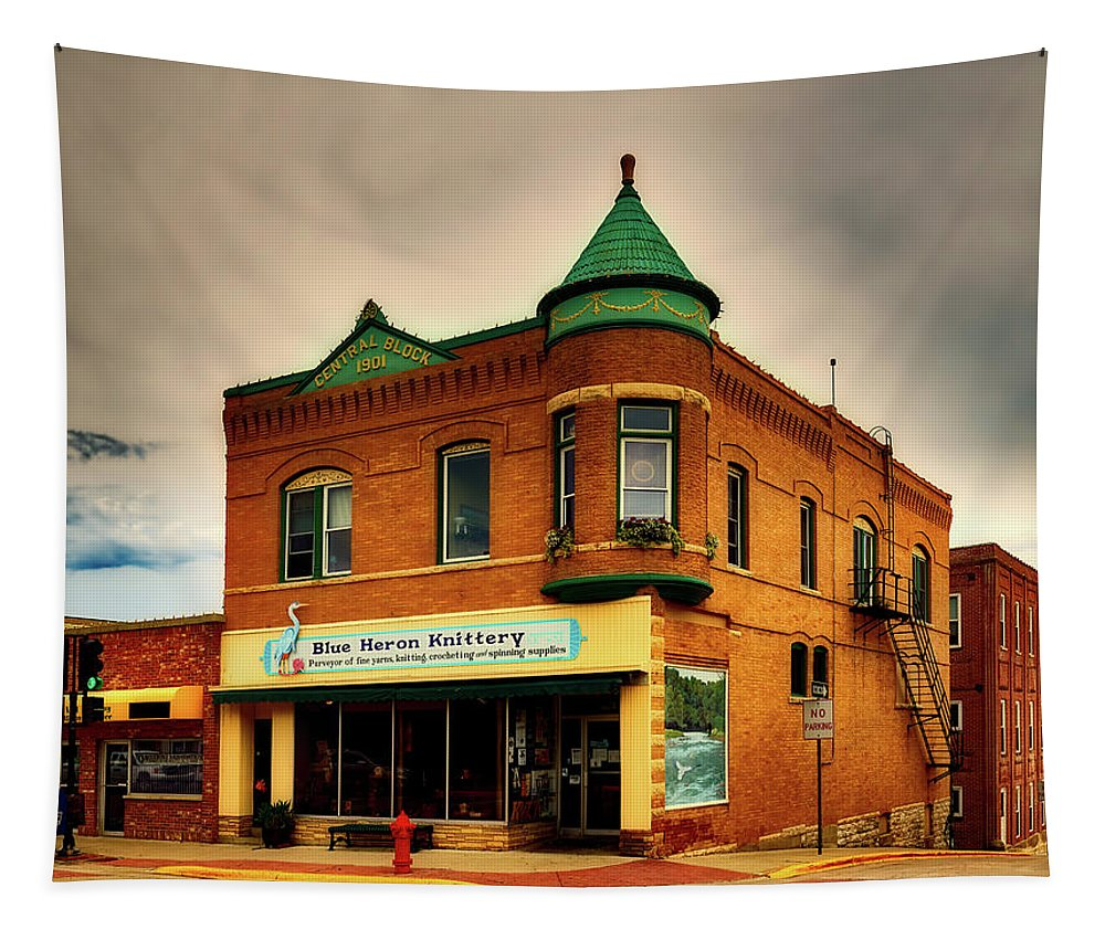 Decorah Tapestry featuring the photograph Small Town America by Mountain Dreams