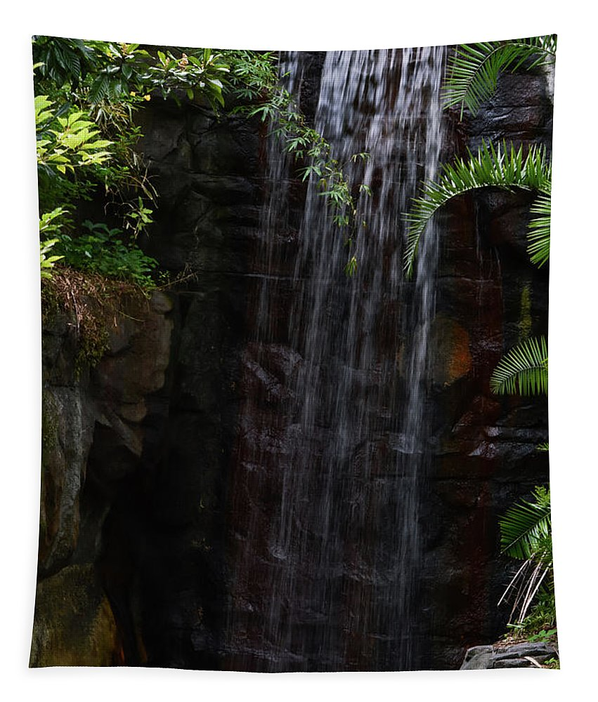 Waterfall Tapestry featuring the photograph Small Waterfall by Zina Stromberg
