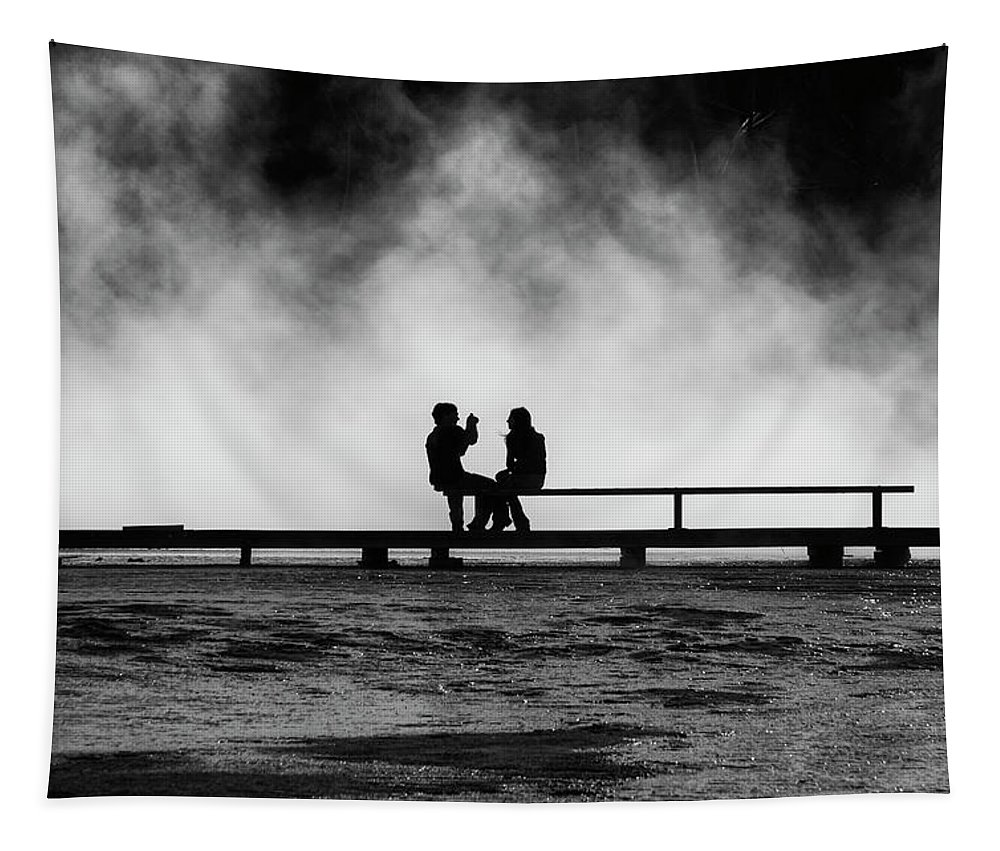 Grand Prismatic Springs Tapestry featuring the photograph Smile by Mark Kiver