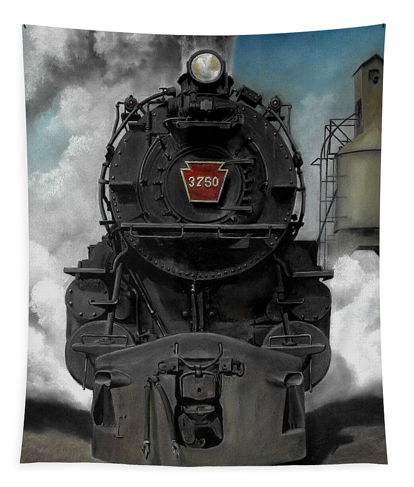 Trains Tapestry featuring the painting Smoke And Steam by David Mittner