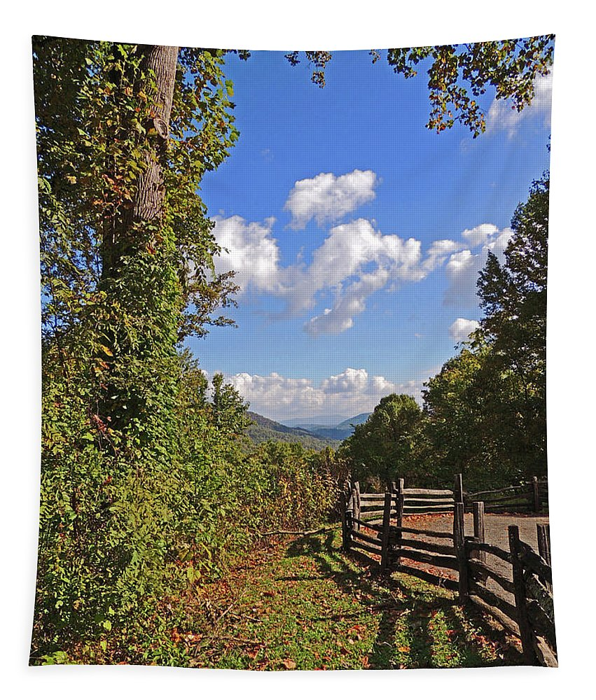 Smoky Mountains Tapestry featuring the photograph Smoky Mountain Scenery 12 by Marian Bell