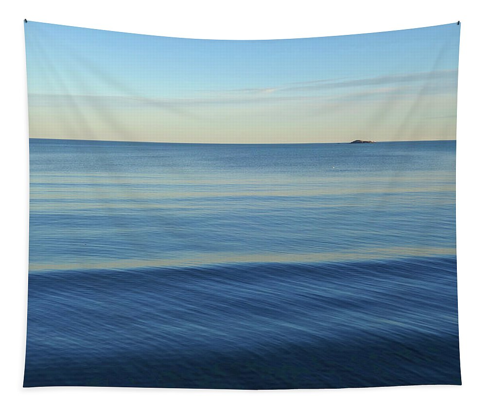 Lynn Tapestry featuring the photograph Smooth Blue Water On The Lynn Waterfront by Toby McGuire