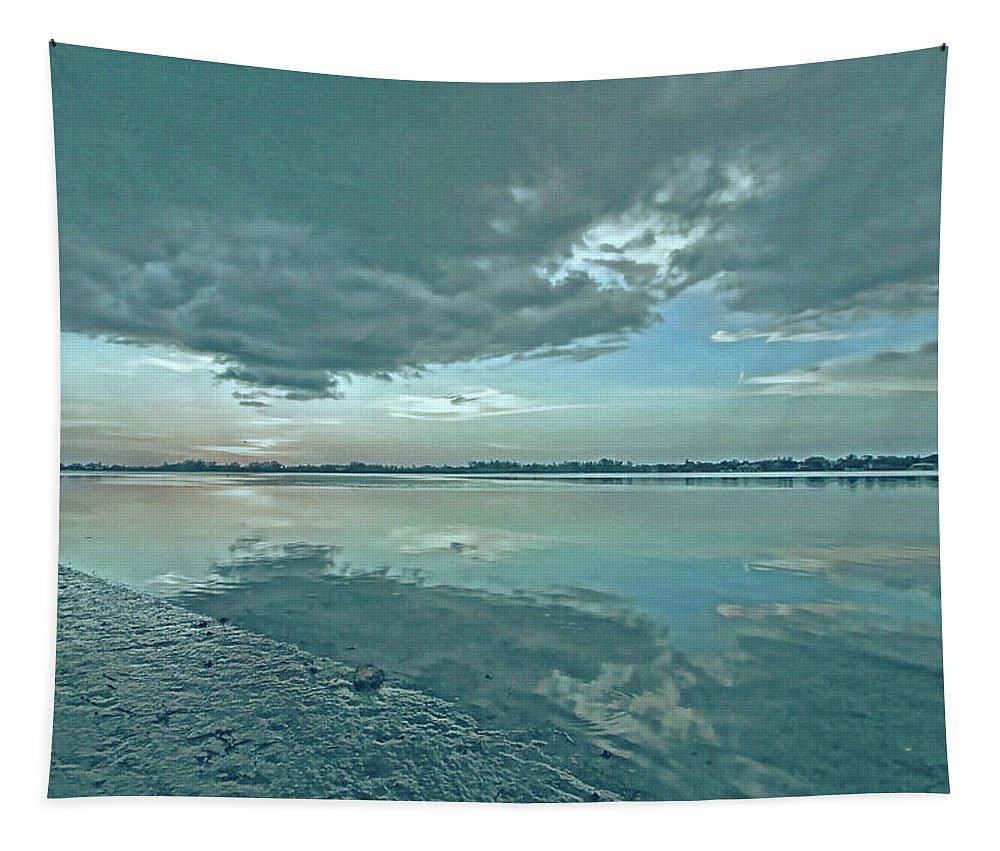 Blue Sky Tapestry featuring the photograph Smooth Blues by HH Photography of Florida