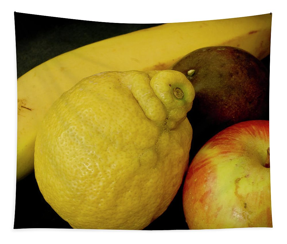 Still Life Tapestry featuring the photograph Smoothie Collection With Apple Note. by Elena Perelman