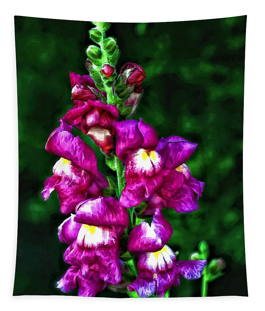 Flower Tapestry featuring the photograph Snappy II by Steve Harrington