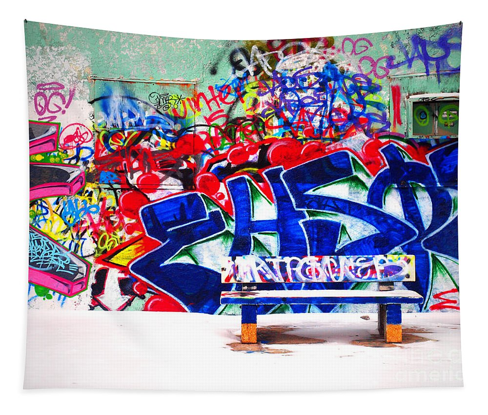 Snow Tapestry featuring the photograph Snow And Graffiti by Tara Turner