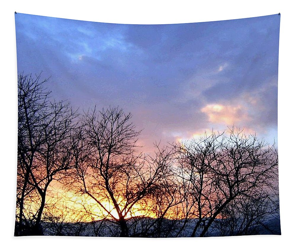 Snowy Mountains Tapestry featuring the photograph Snow In The Distance by Will Borden