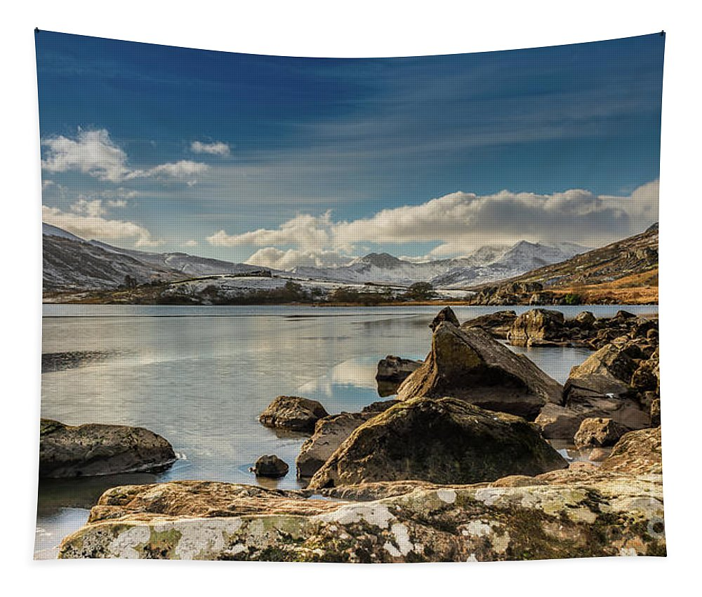 Snowdon Tapestry featuring the photograph Snowdon From Llynnau Mymbyr by Adrian Evans