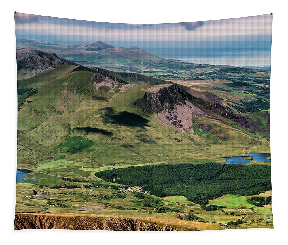 Snowdon Summit Tapestry featuring the photograph Snowdon Moutain View by Adrian Evans