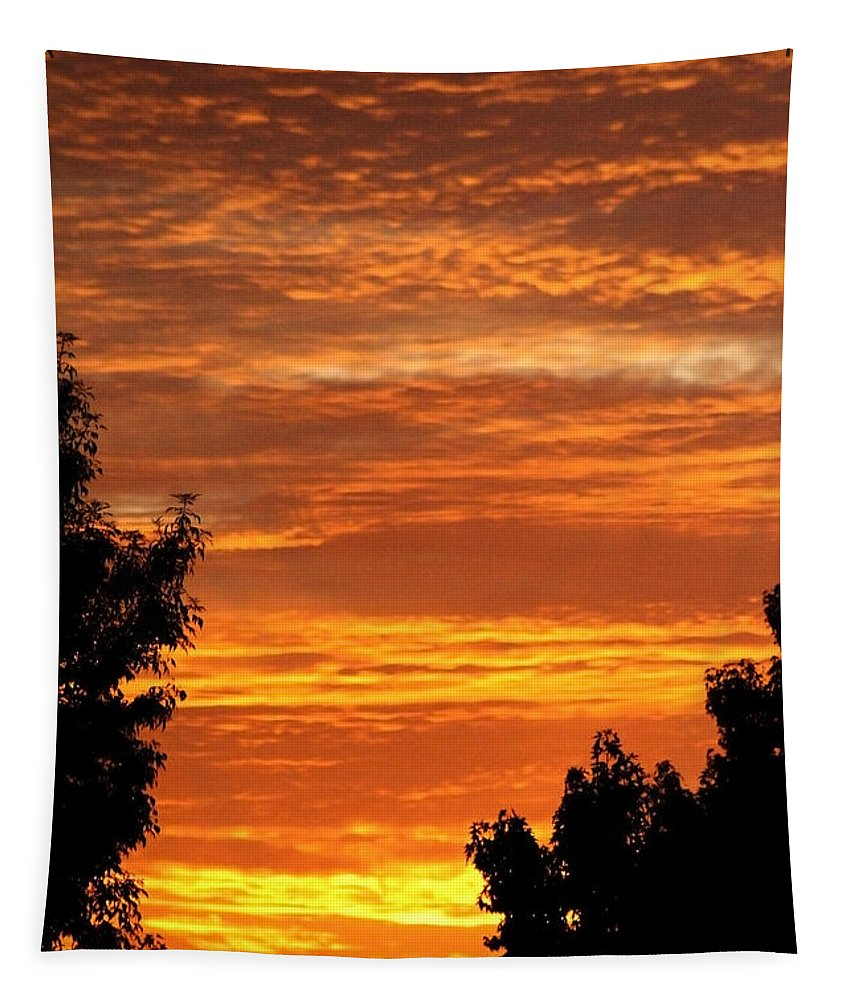 So Cal Sunset Tapestry featuring the photograph So Cal Sunset by Chris Brannen