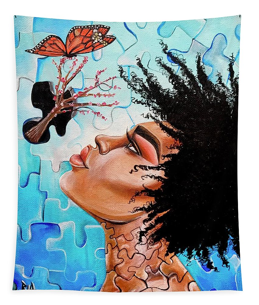 Butterfly Tapestry featuring the photograph So Much more to me that you just cant See by Artist RiA
