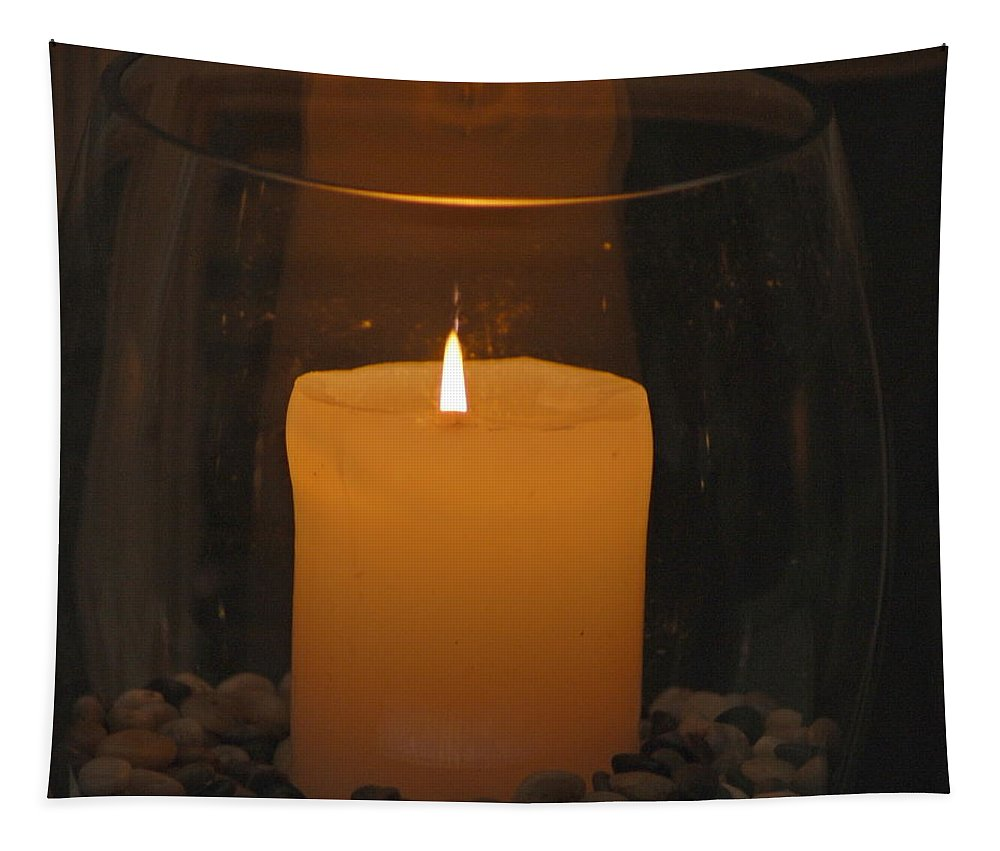 Candle Tapestry featuring the photograph Soft Glow by Richard Bryce and Family