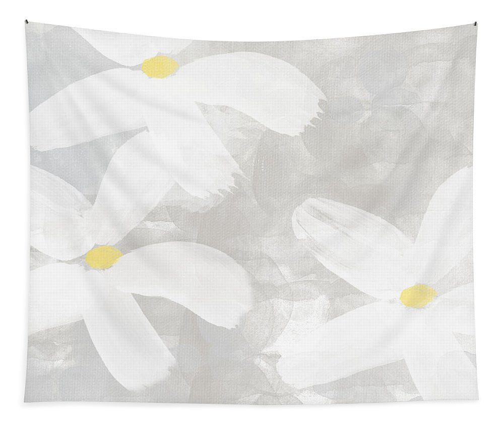 Flowers Tapestry featuring the painting Soft White Flowers by Linda Woods