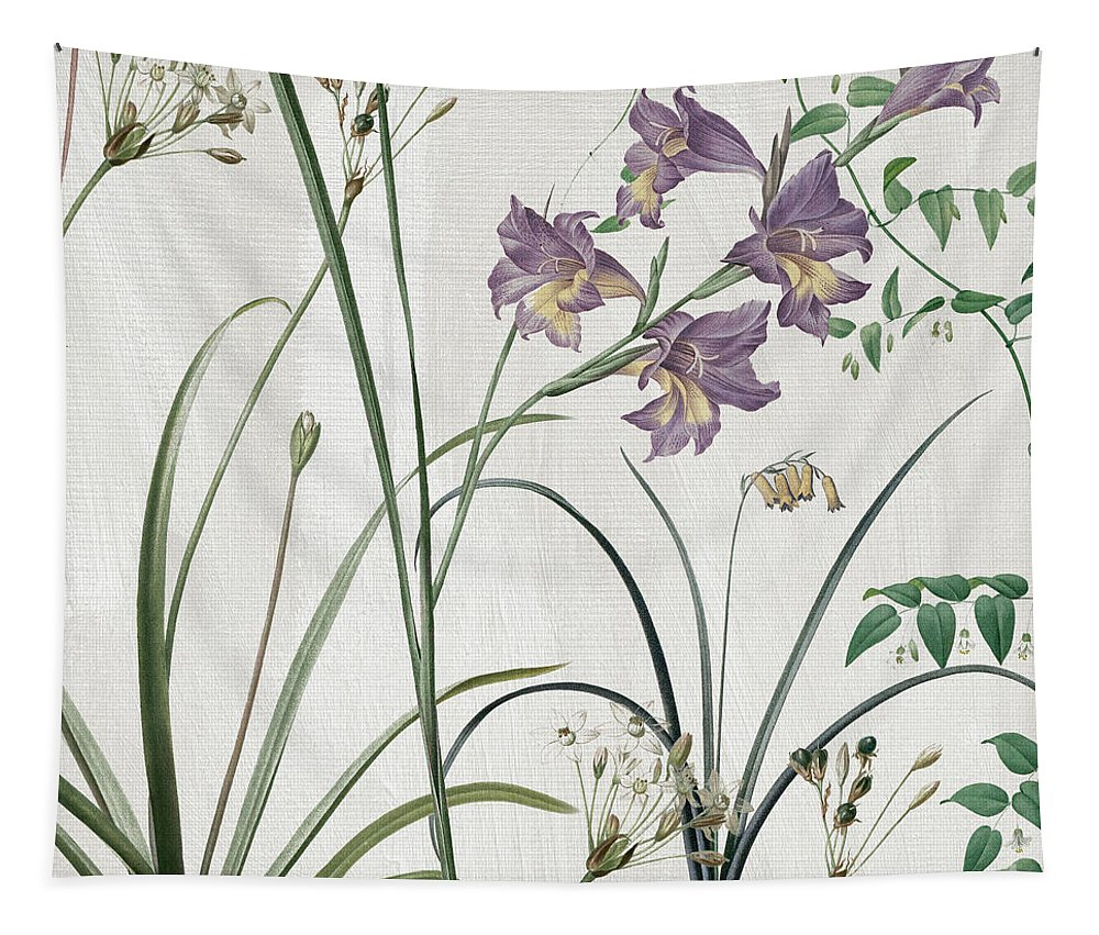 Purple Crocus Tapestry featuring the painting Softly Purple Crocus by Mindy Sommers
