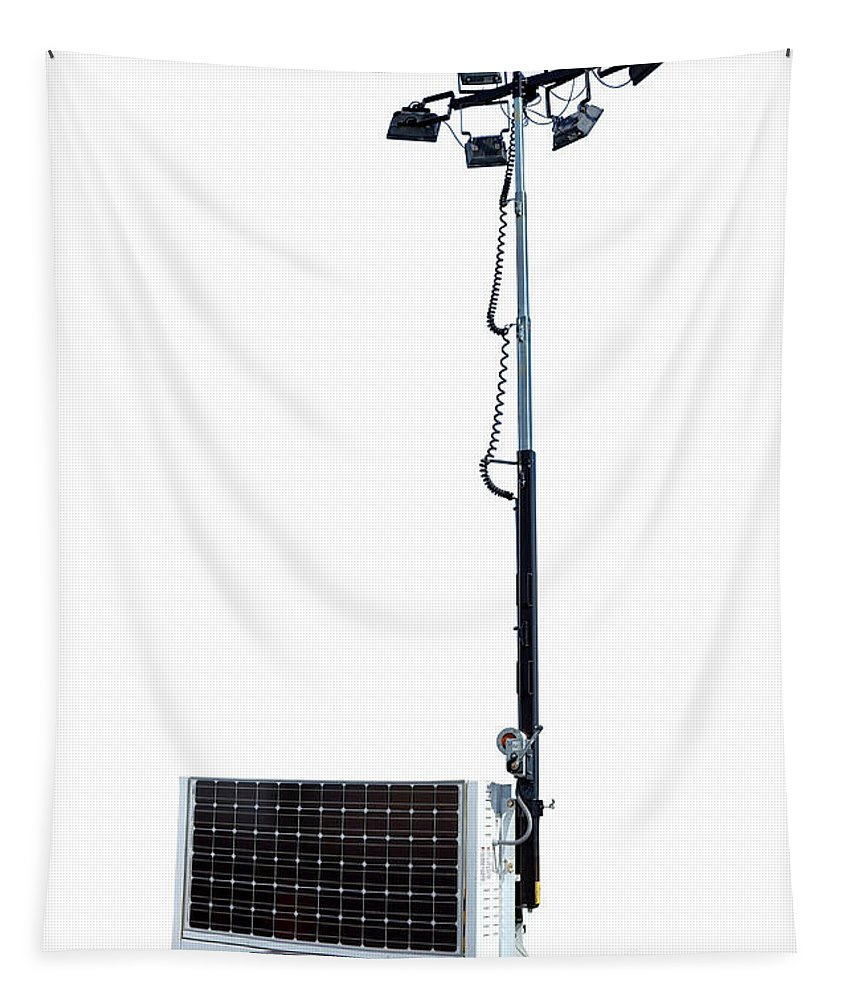 Light Tapestry featuring the photograph Solar Light Tower by Olivier Le Queinec