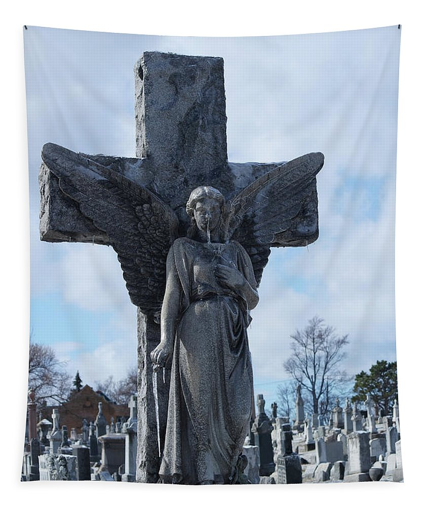 Winter Angel Tapestry featuring the photograph Solid Cold by Gothicrow Images