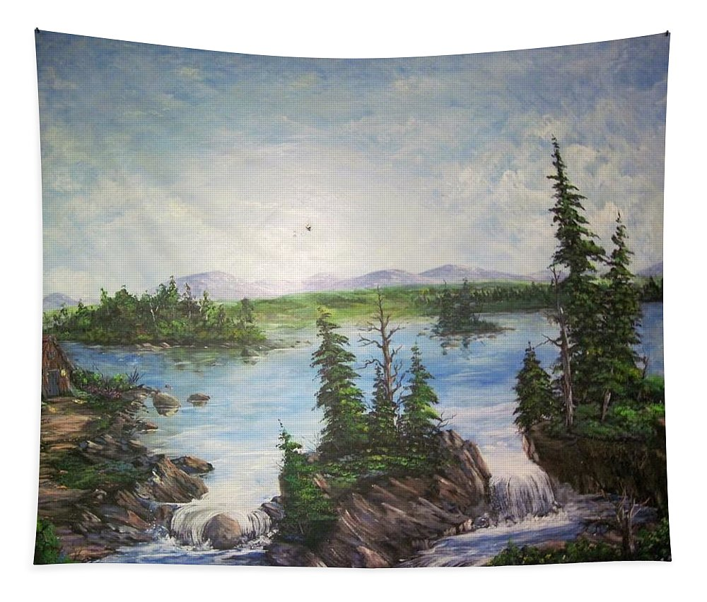 Murals Tapestry featuring the painting Solitude by Megan Walsh
