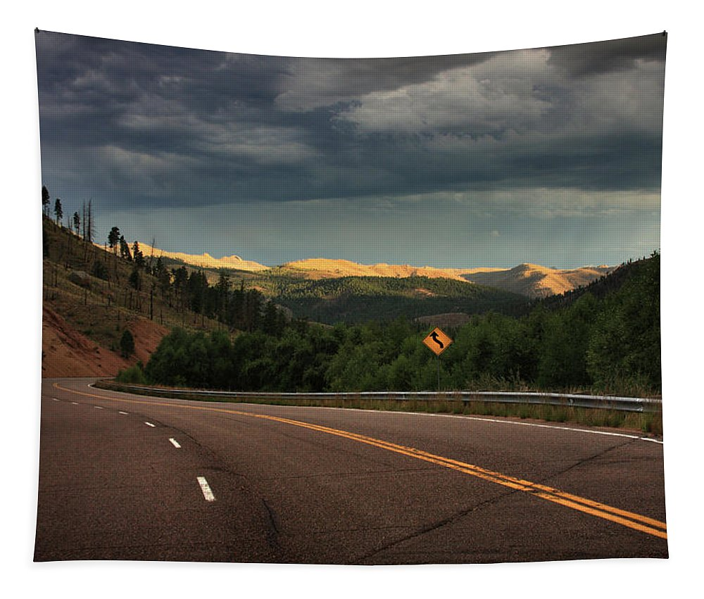 Sometimes Tapestry featuring the photograph Sometime Life Throws You Curves, Enjoy The Ride by Brian Gustafson