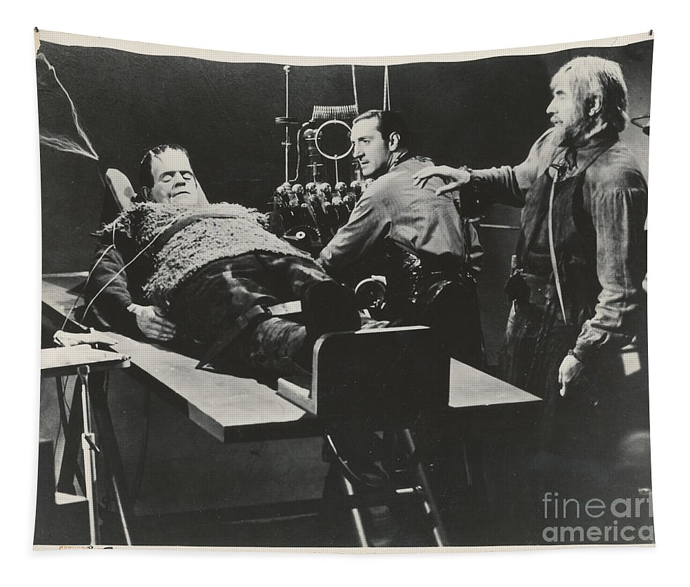 Frankenstein Tapestry featuring the photograph Son Of Frankinstein 1939 by R Muirhead Art