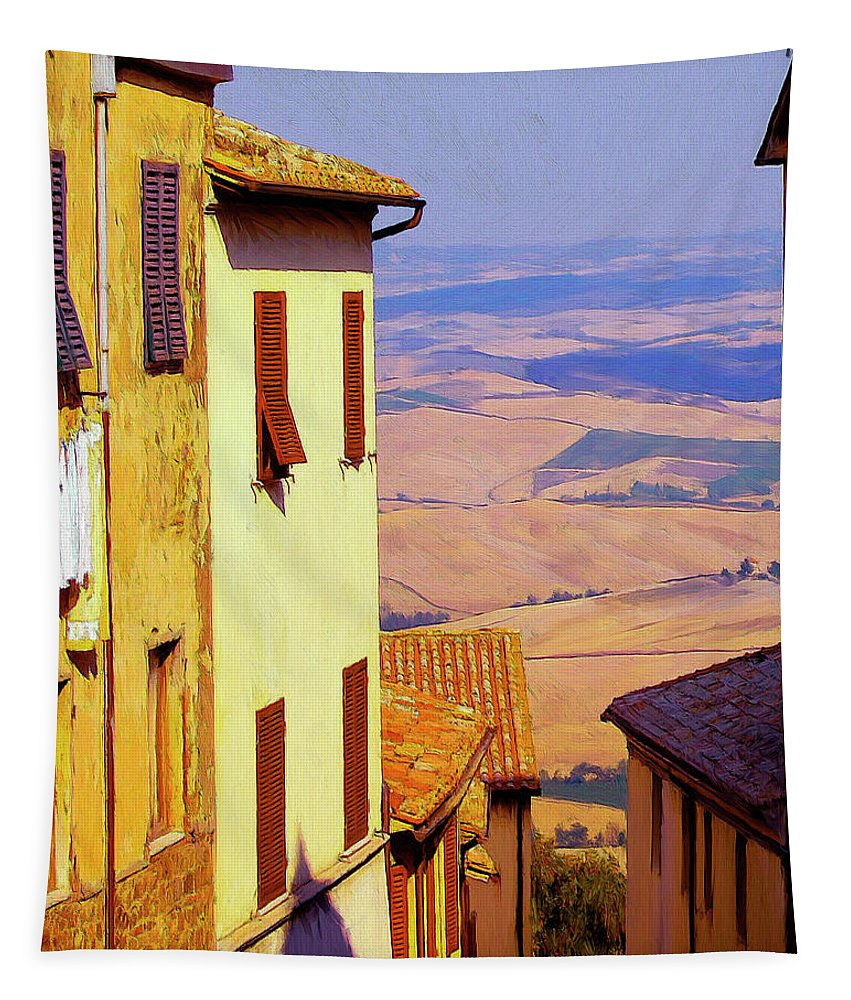 Italy Tapestry featuring the painting Sopratutto by Dominic Piperata