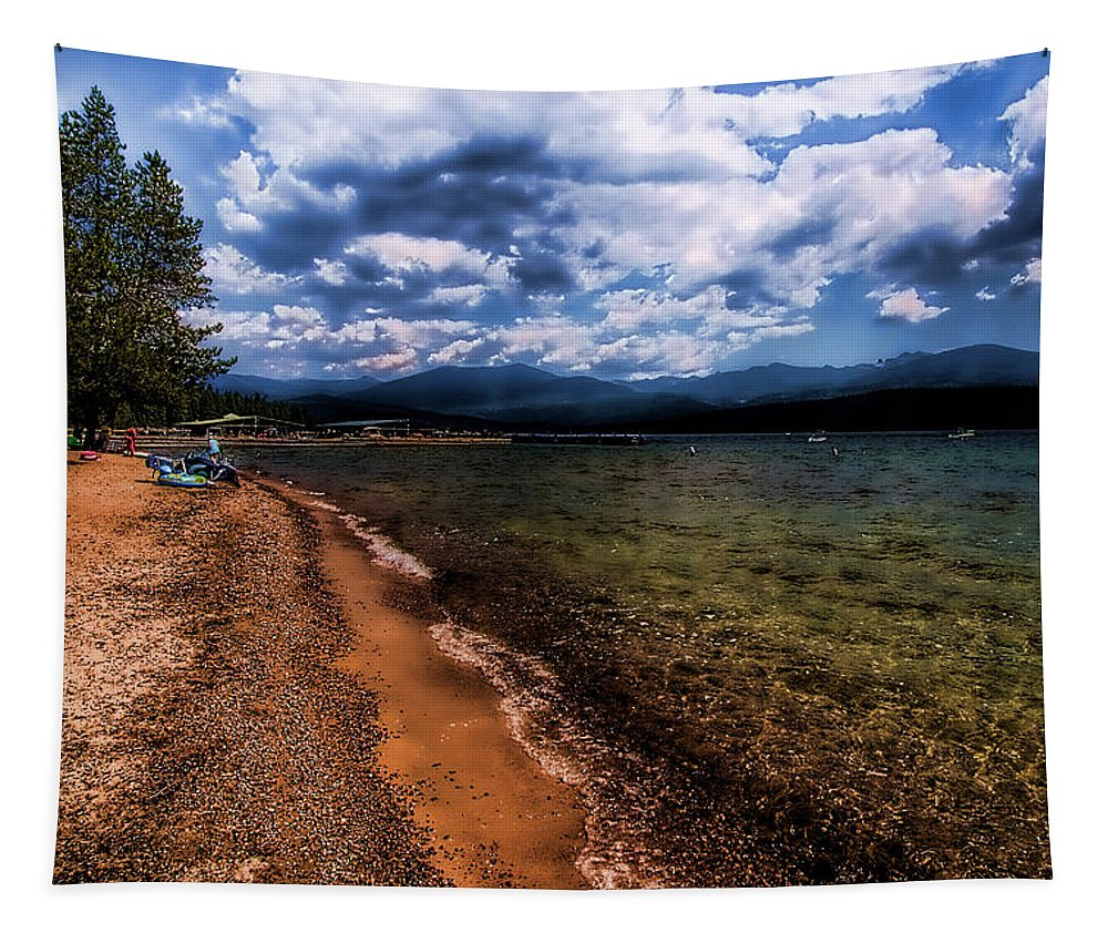 Priest Lake Tapestry featuring the photograph South Beach At Priest Lake by David Patterson