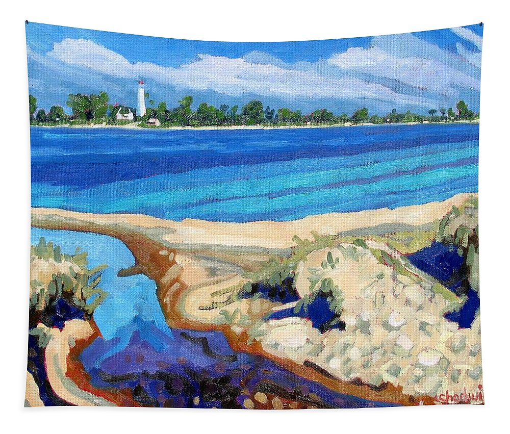 813 Tapestry featuring the painting Southampton Dunes by Phil Chadwick