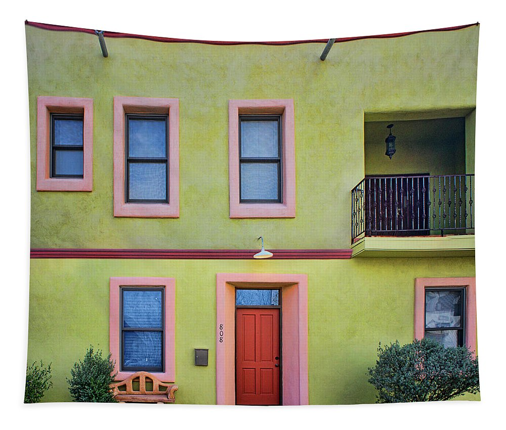 Barrio Viejo Tapestry featuring the photograph Southwestern - Architecture - Barrio Viejo by Nikolyn McDonald