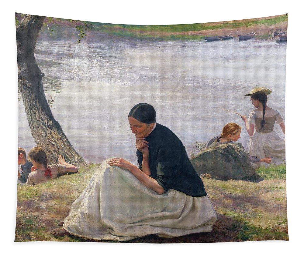 Souvenir Tapestry featuring the painting Souvenir by Emile Friant
