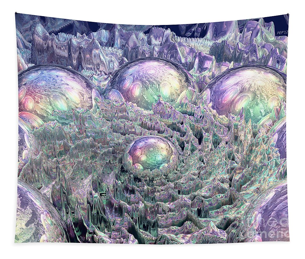 Digital Art Tapestry featuring the digital art Spectral Universe by Phil Perkins