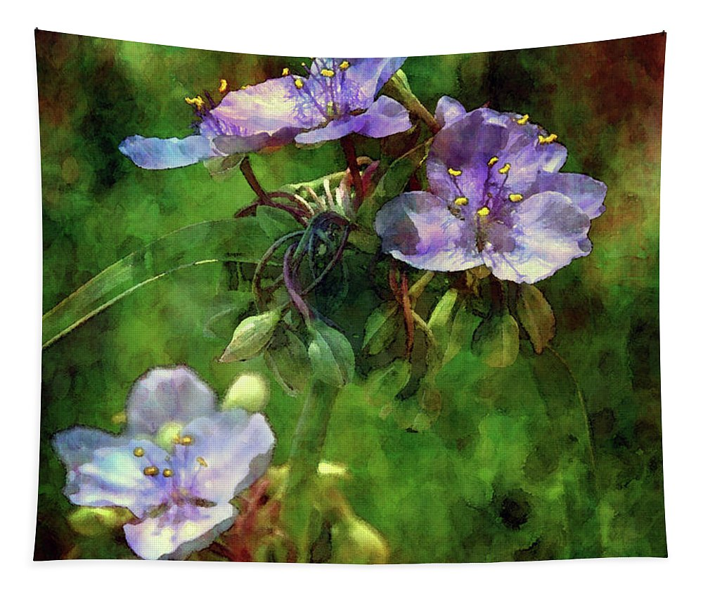 Impression Tapestry featuring the photograph Spider Wort 0264 Idp_2 by Steven Ward