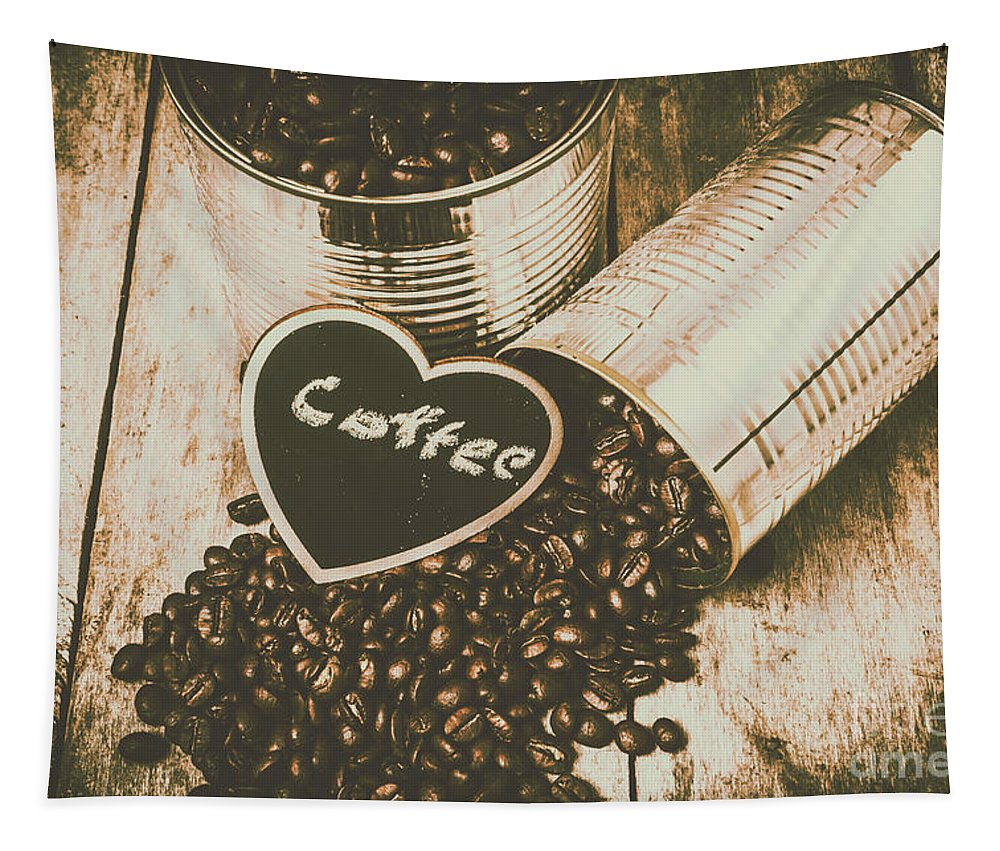 Cafe Tapestry featuring the photograph Spilling The Beans by Jorgo Photography - Wall Art Gallery