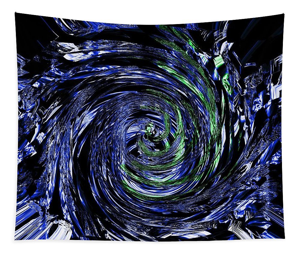 Blue Tapestry featuring the digital art Spiral Vision by Charleen Treasures