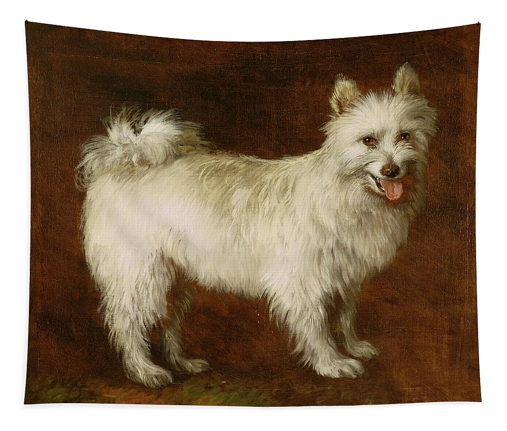 Spitz Tapestry featuring the painting Spitz Dog by Thomas Gainsborough