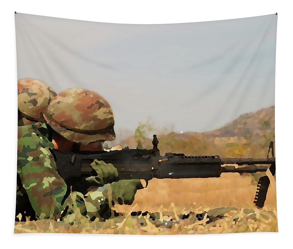 Spotter Tapestry featuring the digital art Spotter by Movie Poster Prints