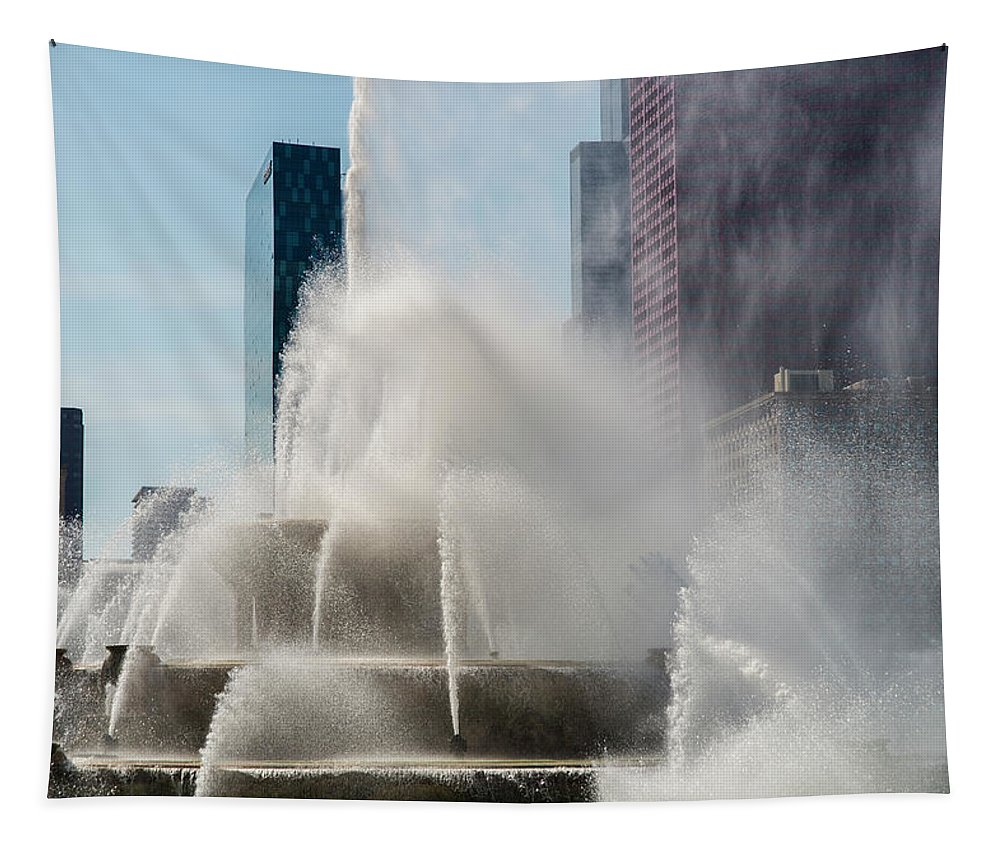 Fountain Tapestry featuring the photograph Spray by Alex Lapidus