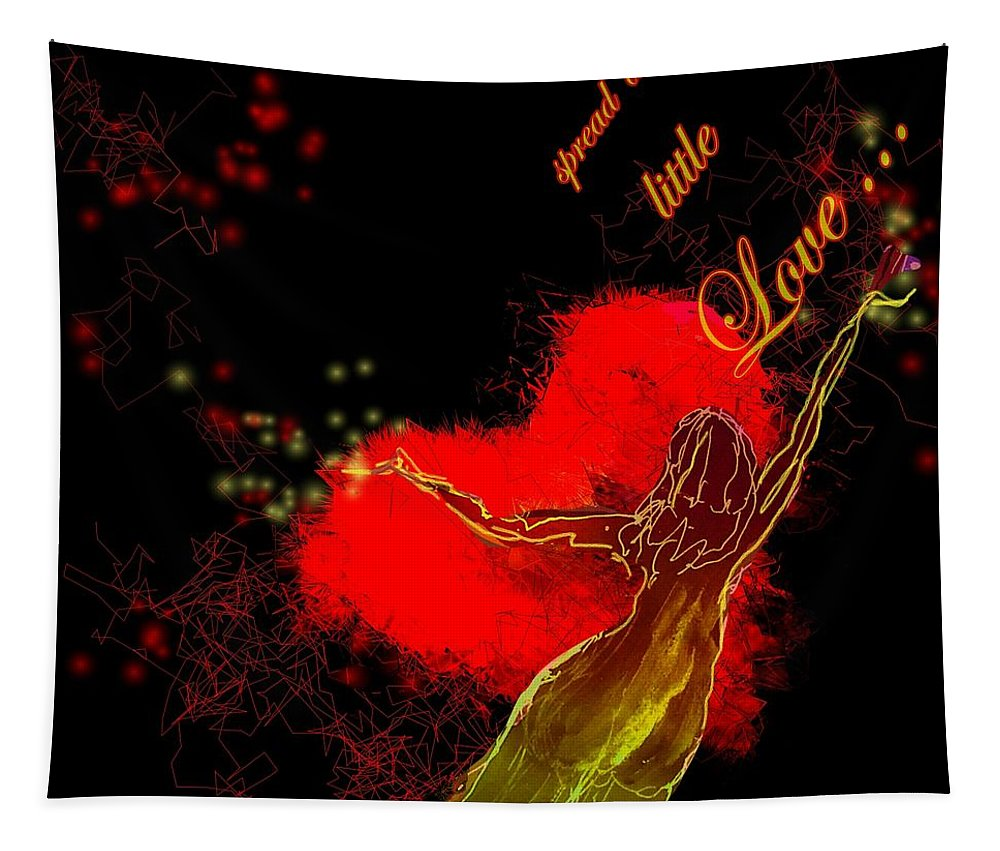 Love Tapestry featuring the painting Spread A Little Love by Miki De Goodaboom