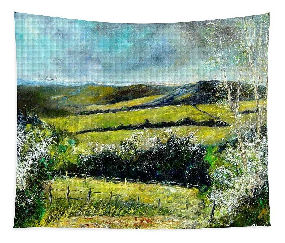 Landscape Tapestry featuring the print Spring 79 by Pol Ledent