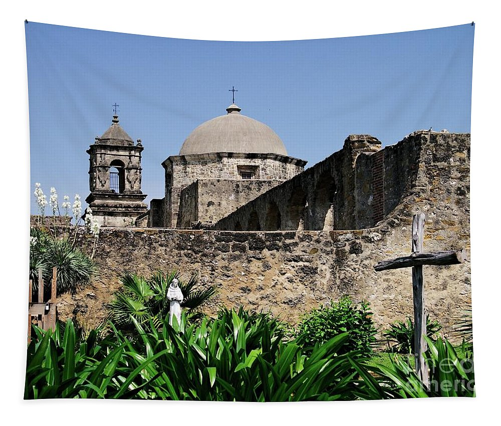 Missions Tapestry featuring the photograph Spring At The Mission by Gary Richards