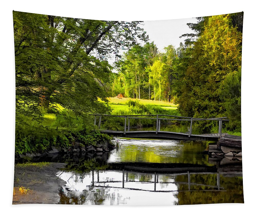 Landscape Tapestry featuring the photograph Spring Becomes The Summer by Steve Harrington