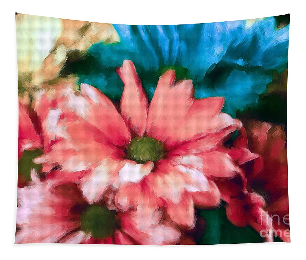 Gerbera Daisy Tapestry featuring the photograph Spring Daisies by Tina LeCour