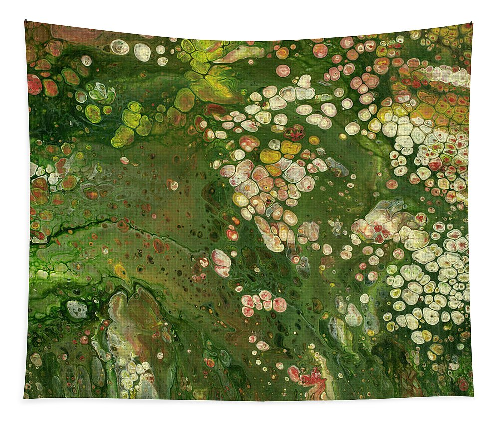 Abstract Tapestry featuring the painting Spring Garden by Darice Machel McGuire