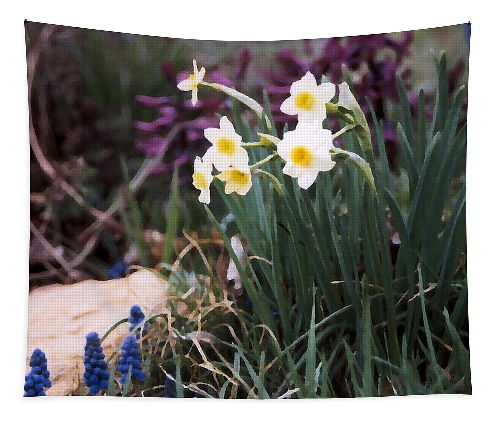 Flowers Tapestry featuring the photograph Spring Garden by Steve Karol
