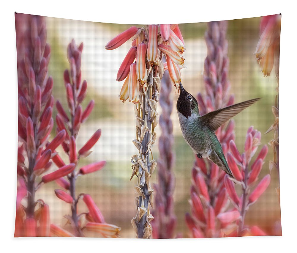 Hummingbird Tapestry featuring the photograph Spring Happiness by Saija Lehtonen