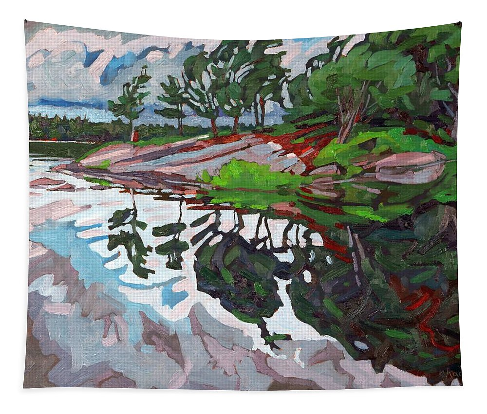 Spring Tapestry featuring the painting Spring Paradise by Phil Chadwick