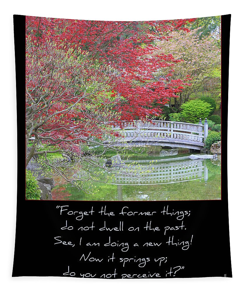 Isaiah 43: 18-19 Tapestry featuring the photograph Spring Revival by Carol Groenen